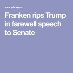 Franken rips Trump in farewell speech to Senate