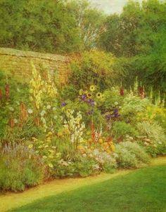garden painting- Helen Allingham, Munstead Wood