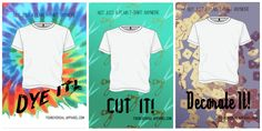 First draft of my ad series for the white t shirt. Still needs a lot of work as far as hierarchy and some text decisions, but overall I don't thin kits too bad.