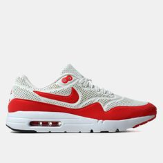 Nike Air Max 1 Ultra Moire Shoes - Summit White/Challenge Red