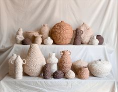 Cape Town ceramicist Ceri Muller makes tragicomic clay characters with mouths agape and haunted hollow eyes, as well as crinkly, unglazed vessels and vases. Pottery Vase, Ceramic Pottery, Small Flower Pots, Keramik Design, Pottery Supplies, Ceramic Texture, Clay Faces, Different Textures, Ceramic Artists
