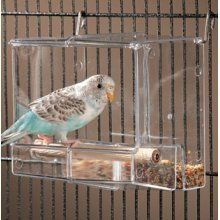 Amazon.com: Corral Seed No-Mess Bird Feeder parrot toy toys canary cockatiel finch lovebird parotlet cage cages tidy: Pet Supplies