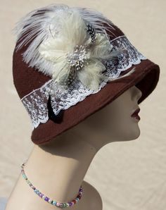 1920s VIintage Inspired  Cloche Hat  Great Gatsby by aileens4hats, £35.00