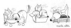 a sketch that did make it into #thekingcat book :) @MacmillanKidsUK @BlackieBooks