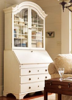 Somerset Bay Monterey Bureau Bookcase - I would use this in a bathroom to hold towels and toiletries in style