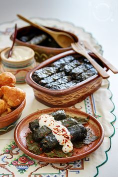 Stuffed Grape Leaves With Meat and Rice Recipe