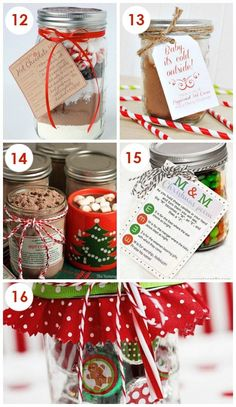 Christmas Neighbor Gifts in a Jar