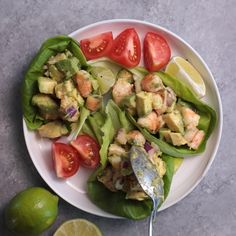 This light and simple Shrimp Avocado Salad uses only a few simple ingredients with a zesty lime olive oil dressing that adds a burst of fresh flavor! Try it for a healthy, low carb lunch! | Shrimp Recipes | Avocado Salad | Seafood Salad | #shrimp #avocado #salad #healthy #lunch #feelgoodfoodie via @feelgoodfoodie1