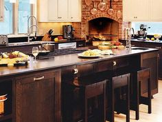 kitchen fireplace - Google Search
