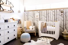 Adventure and Travel Themed Nursery - modern design with a cozy, woodland feel.