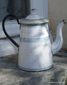 french enamelware coffee pot - Sharon Santoni