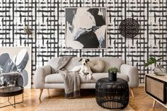 Brush stroke grid peel and stick wallpaper | Criss cross removable wallpaper | Brush stroke wallpaper - PVC Free & Removable textile Self Adhesive Wallpaper, Peel And Stick Wallpaper, Wall Wallpaper, Rgb Color Codes, Geometric Removable Wallpaper, Frosted Glass Door, Black And White Abstract, Sheet Sizes, Line Patterns