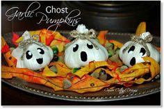Garlic Ghost Pumpkins cute