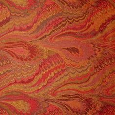 Wow! Red Designer Tapestry Upholstery Fabric Looks like marbleized paper - wears like iron!