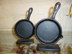 Set Of Three Caste Iron Pans New Arrivals In Our Showroom