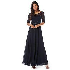 No. 1 Jenny Packham Navy 'Selena' maxi dress | Debenhams
