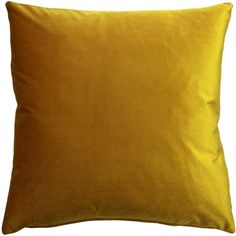 The inch Corona Deep Yellow Velvet pillows are made from an exceptionally soft, high quality medium-pile velvet fabric with a medium sheen. Velvet Pillows, Sofa Pillows, Throw Pillows, Machine Wash Pillows, Pillow Arrangement, Velvet Color, American Decor, Home Decor Outlet, Shabby Chic Furniture