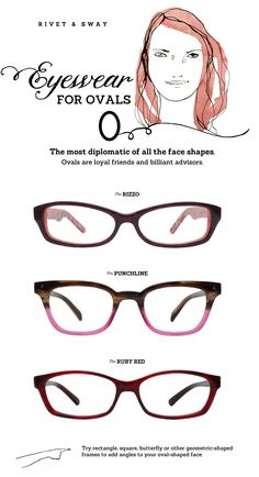 Eyeglasses - Style advice for oval face shapes