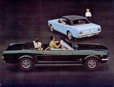 Raven Black 1965 Mustang Convertible Promotional Sales Brochure