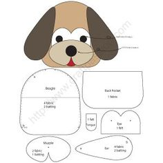 Free sewing pattern to make cute Beagle inspired Dog Key Pouch, Key Cozy, Key Holder. Template & detailed instructions includes step by step photos for easy understanding. # Sewing Patterns For Dogs Dog Key Pouch - Beagle Cute Beagles, Key Pouch, Sewing Hacks, Sewing Tips, Sewing Tutorials, Leftover Fabric, Love Sewing, Sewing Projects For Beginners, Diy Projects