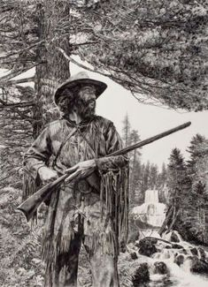 512 best Mountain men images on Native American Pictures, Native American Art, Mountain Man, Rocky Mountains, Fur Trade, American Frontier, Historical Art, Le Far West, Cool Paintings