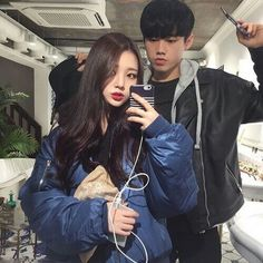 Find images and videos about girl, boy and couple on We Heart It - the app to get lost in what you love. Ulzzang Couple, Ulzzang Girl, Cute Korean, Korean Girl, Cute Couples Goals, Couple Goals, Korean Ulzzang, Korean Couple, Couple Outfits