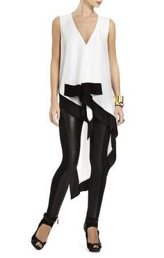 BCBG black and white Hi-low top availalbe at SteamRoller Blues #blackandwhite #weship