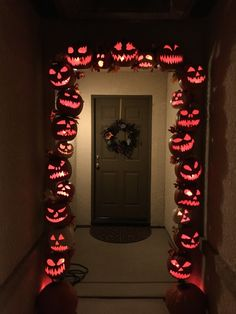 Here it is lit up.   All I have to do is carve the 2 real pumpkins at the base! Holiday Decorating, Pumpkins, Light Up, Halloween Decorations, Eve, Carving, Home Decor, Decoration Home, Room Decor