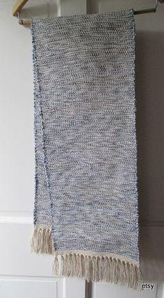 table runner table rug  bureau scarf   table topper  blue