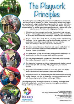 play work principles (play-work principles scrutiny group 2005) • excursion: school excursions are  structured learning experiences provided by, or under.