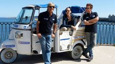 """Left to right:Emerson Gattafoni,Valeria Cagnoni,and Claudio De Tommasi,presenters of  """"Road Italy"""",a series of travel documentaries in Italy!This,in particular,was the episode shot in Sabbioneta!Finally I found this pic in high resolution!"""