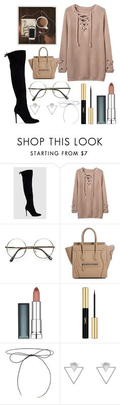 """Untitled #89"" by hailey-aline ❤ liked on Polyvore featuring WithChic, Maybelline, Yves Saint Laurent, Lilou and Eloquii"