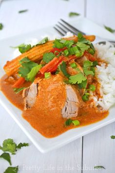 Coconut Red Curry Crockpot Pork Tenderloin. I've taken the good old tried and loved crockpot and I've added all the savoury flavours of Thai food, to make one really amazing dish!