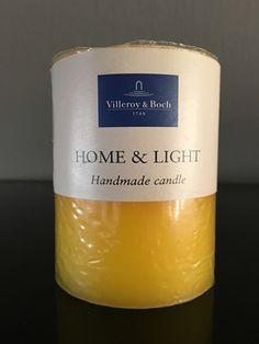Villeroy & Boch Essent. Candles jaune pillar 7 x 9 cm