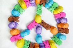 Peeps peace sign