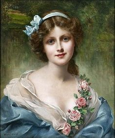 Francois Martin-Kavel (artista francés, 1861-1931) Victorian Ladies - Vintage Ladies