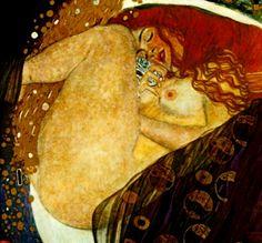 Gustav Klimt- gotta love a beautiful redhead with substantial thighs!