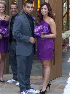 11/12/2011: Wilmer Valderrama & Demi Lovato (bridesmaid) at the wedding of Christopher Carney & Tiffany Thornton (Hot Springs, Arkansas, U.S.A.)
