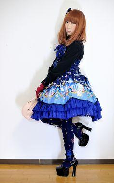 https://flic.kr/p/cZD1Lh   Navy Blue Sweet Lolita   Metamorphose temps de fille JSK