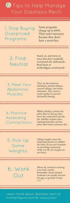 6 Tips to Help Manage Your Diastasis Recti (Infographic