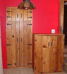 Reclaimed knotty pine cabinet by jeffbuildsfurniture, via Flickr