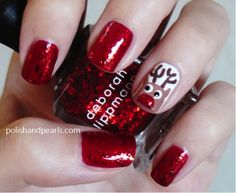 Rudolph manicure = perf for the holiday season!