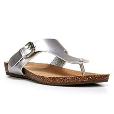 f0a853f9ff3a Dr Scholls Womens Rudy Silver Thong Sandal 10 M -- To view further for this