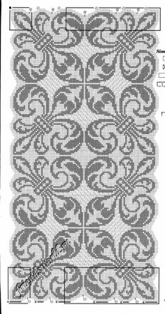 Filet Crochet Charts, Crochet Cross, Knitting Charts, Thread Crochet, Knitting Stitches, Crochet Doilies, Cross Stitching, Cross Stitch Embroidery, Embroidery Patterns