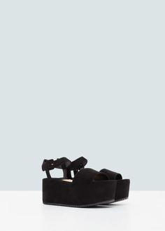 Sandalia pulsera plataforma
