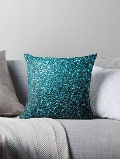 Beautiful girly glamorous light blue shiny glitters sparkles. Photo of cyan blue sparkles not actual glitter! • Also buy this artwork on home decor, apparel, stickers, and more.