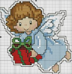 Brilliant Cross Stitch Embroidery Tips Ideas. Mesmerizing Cross Stitch Embroidery Tips Ideas. Cross Stitch Angels, Xmas Cross Stitch, Beaded Cross Stitch, Cross Stitch Flowers, Counted Cross Stitch Patterns, Cross Stitch Designs, Cross Stitching, Cross Stitch Embroidery, Christmas Charts