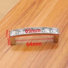 Hole Pitch 64mm/96mm/128mm Modern Crystal Glass handle drawer handle Knob furniture pulls cabinet handle