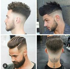 Hair Tattoo Designs, Hair Designs, Hairstyles Haircuts, Haircuts For Men, Hair And Beard Styles, Short Hair Styles, Gents Hair Style, Wavy Hair Men, Beard Look
