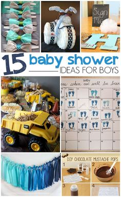 BABY SHOWER IDEAS FOR BOYS - we have to do ALL of these! So cute!!!
